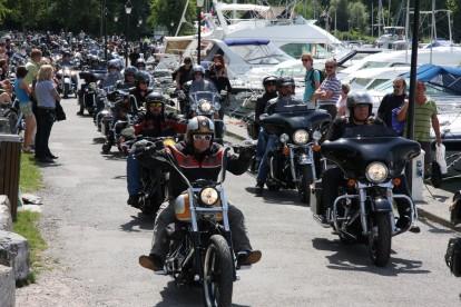 Harley Davidson festival in Yvoire, France