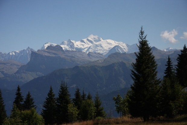 Mont Blanc from Samoëns, France