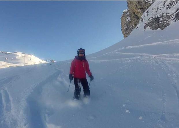 Skiing in Flaine, Grand Massif, France
