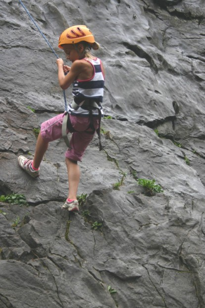 Rock climbing in Samoëns, French Alps