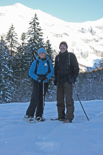Snow shoeing in the Sixt Passy National Park